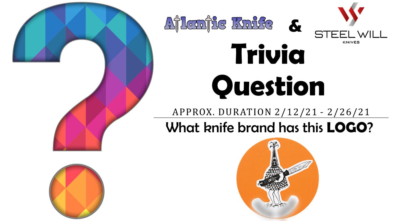 Atlantic Knife & Steel Will Gienah AK Trivia Question Giveaway
