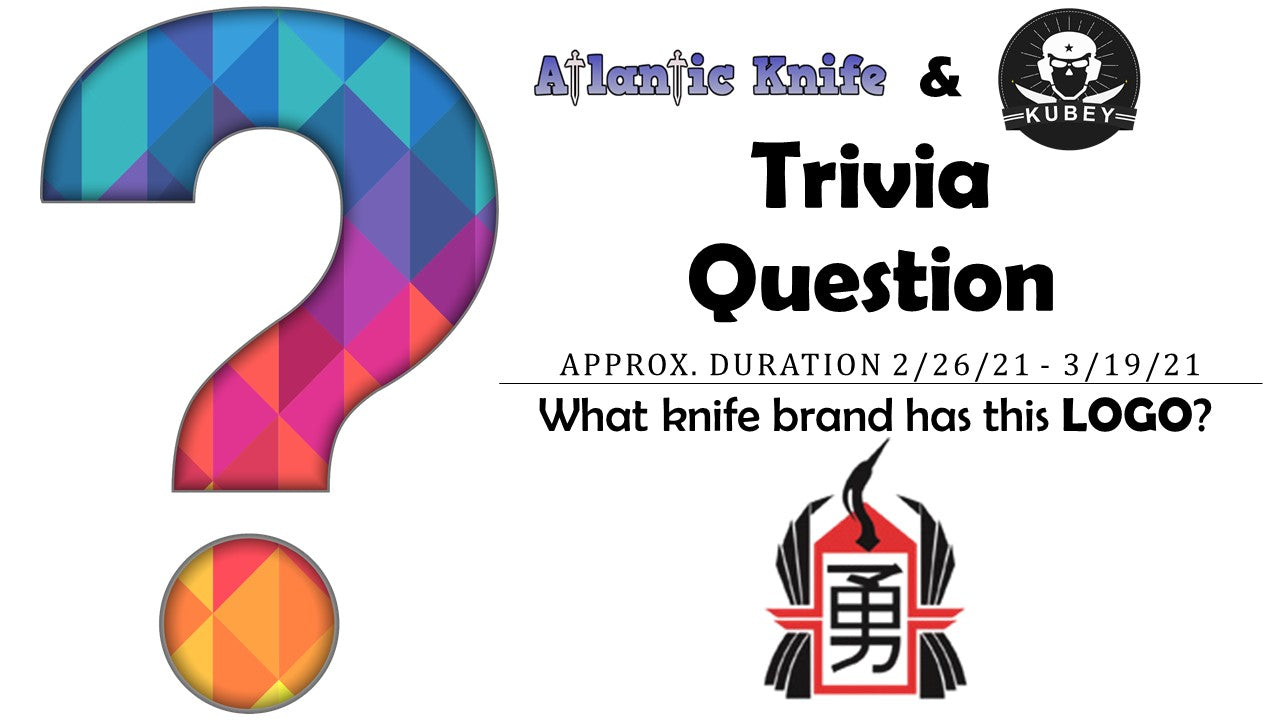 Atlantic Knife and Kubey Titanium AK Blog Trivia Question Giveaway