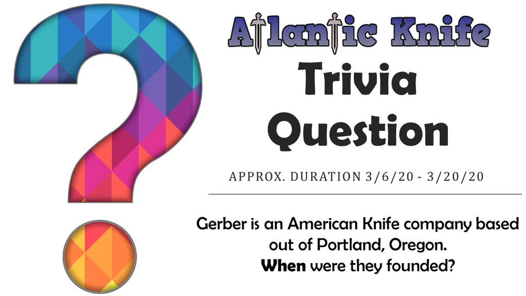 Atlantic Knife Blog Trivia Question for TOPS Street Scalpel 2 Knife Giveaway