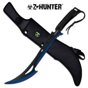 "Z Hunter Zombie 24"" Machete Black Blue 2-Tone - 020bl"