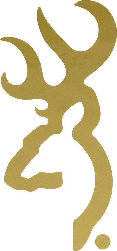 Browning Buckmark Car Window Home Decoration Gold Decal Sticker