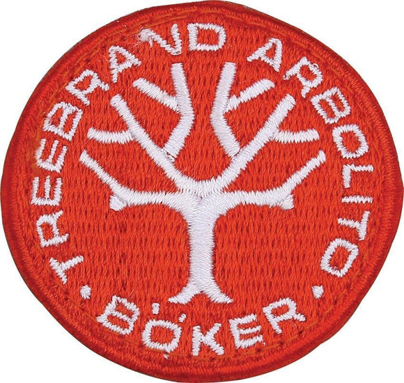 Boker Logo Arbolito Tree Brand Embroidery Red & White Collectible Patch