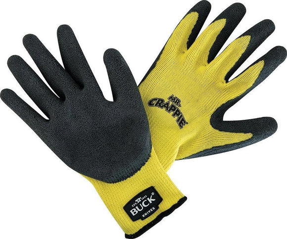 BUCK Knives Men's Mr Crappie Yellow & Black Working Fishing Gloves