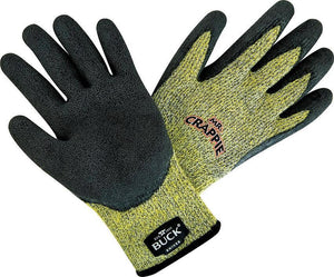BUCK Knives Men's Mr Crappie Yellow Cut Resistant Fishing Gloves 11017