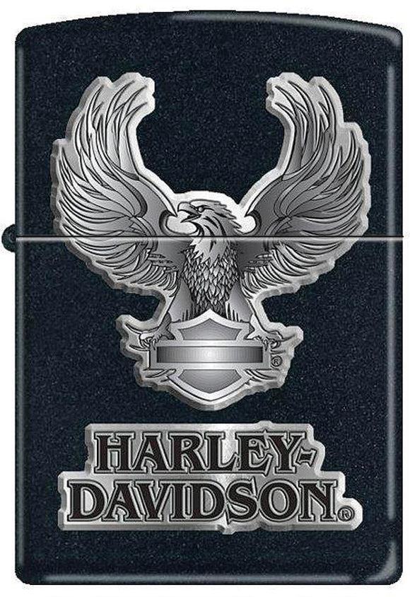 Zippo Lighter Harley Davidson Logo Black Eagle Windproof USA