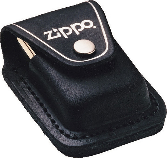 Zippo Lighter Black Leather USA Made Carrying Pouch Sheath
