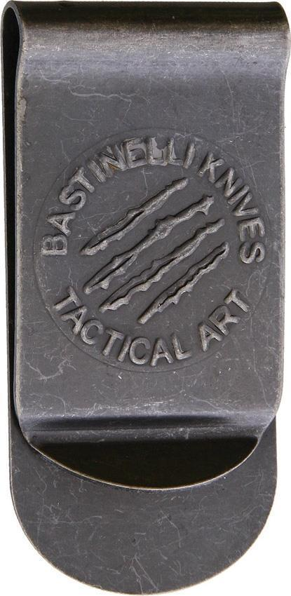 Bastinelli Creations Tactical Art Logo Stonewash Stainless Money Clip