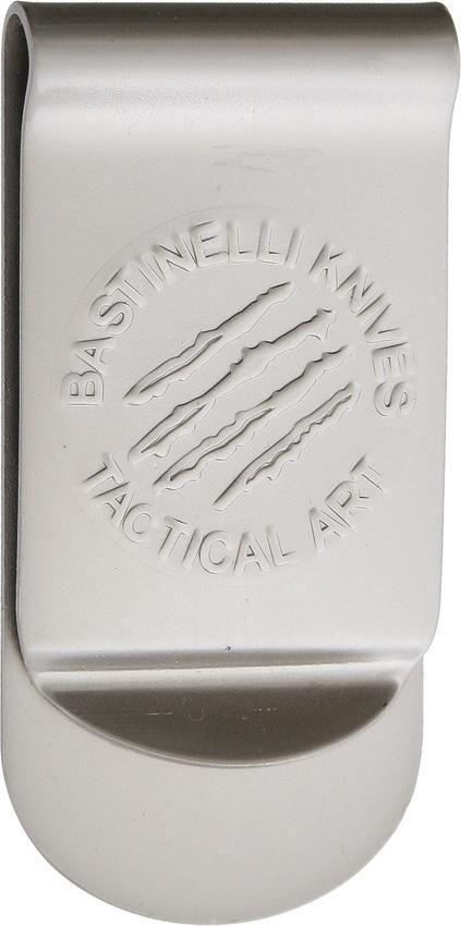 Bastinelli Creations Tactical Art Logo Stainless Satin Finish Money Clip