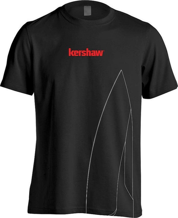 Kershaw Red Logo Knife Blade Black Cotton Short Sleeved T-Shirt