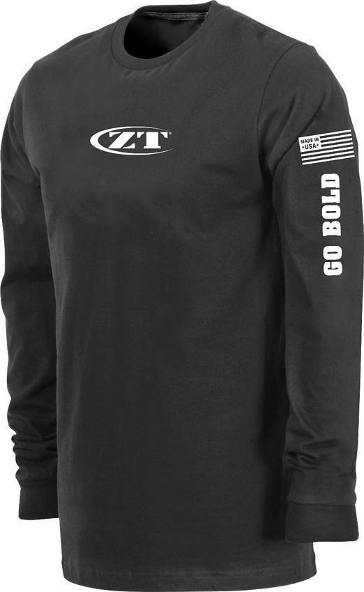 Zero Tolerance Logo Go Bold Black Men's Long Sleeve T-Shirt