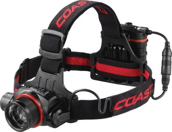 Coast HL8 Durable Headlamp hardhat compatible removable pack 344 lumens