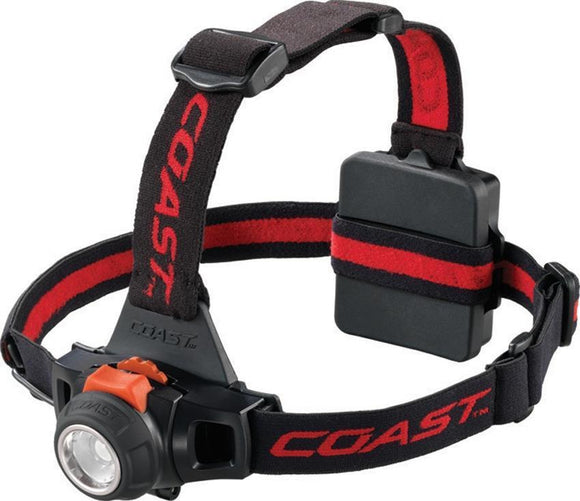 Coast HL27 Spot Flood Light Hardhat 309 lumen Black & Red Adjustable Headlamp