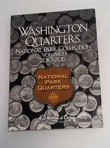 H.E. Harris National Park Quarter Folder 2010 - 2015 Coin Storage Album Vol 1