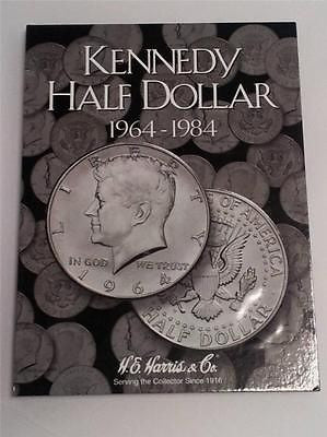 H.E. Harris Kennedy Half Dollar Folder 1964 - 1984 Coin Storage Album Display #1
