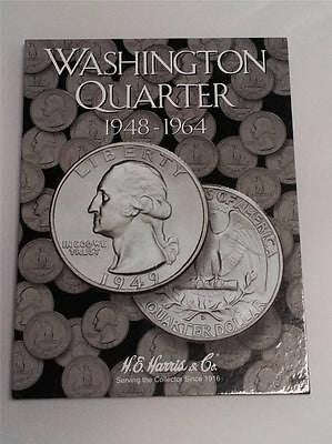 H.E. Harris Washington Quarter Folder 1948 - 1964 Coin Storage Album Book #2