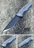 WE KNIFE Gray Black Flipper Folding Pocket Knife S35VN - 601Q