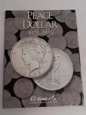H.E. Harris Peace Dollar 1921 - 1935 Folder Coin Storage Album Display Book