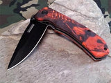 Tac Force Folding Pocket Knife Red Camo - 764RC