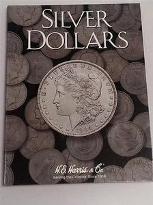 H.E. Harris Dollar Folder Coin Storage Album Display Book All Types of Silver