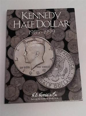 H.E. Harris Kennedy Half Dollar Folder 1985 - 1999 Coin Storage Album Display #2