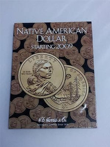 H.E. Harris Native American Dollar Folder 2009 Coin Storage Album Display Book