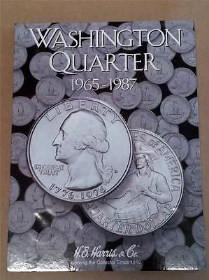 H.E. Harris Washington Quarter Folder 1965 - 1987 Coin Storage Album Book #3