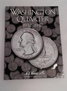 H.E. Harris Washington Quarter Folder 1932 - 1947 Coin Storage Album Book #1