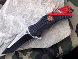 TAC FORCE SPRING ASSISTED FIRE DEPT RESCUE KNIFE - 640FD