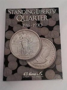 H.E. Harris Standing Liberty Quarter Folder 1916 - 1930 Coin Storage Album