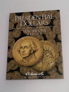 H.E. Harris Presidential Dollar Folder 2007 - 2011 Coin Storage Album Vol I 1