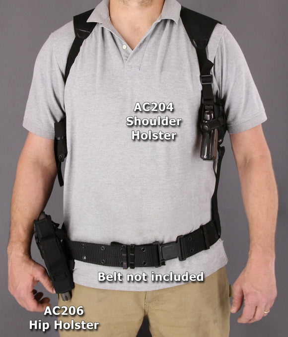 Carry All Black Strap Adjustable Tactical Concealed Gun Shoulder Holster