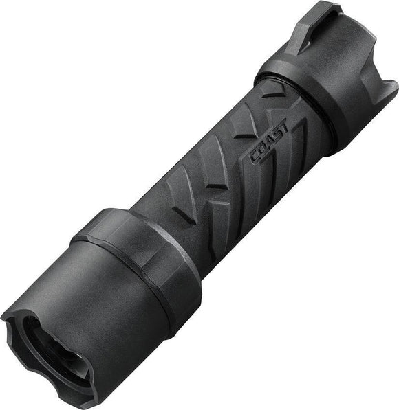 Coast Polysteel 400 Black Body 300 lumens ipx8 Waterproof LED Flashlight
