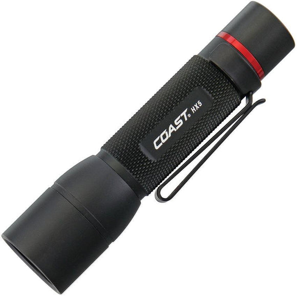 Coast HX5 LED Black Aluminum Flashlight 130 lumens