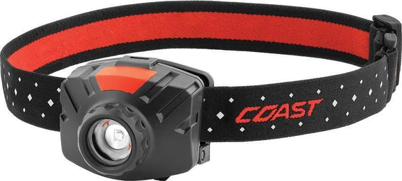 Coast FL60 LED Headlamp hardhat compatible reflective strap 400 lumens
