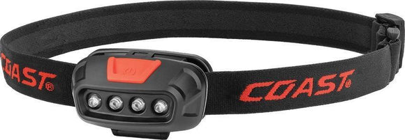 Coast FL11 LED Headlamp solid & flashing red LED feature