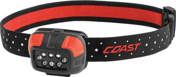 Coast FL44 LED Headlamp hardhat compatible 250 lumens
