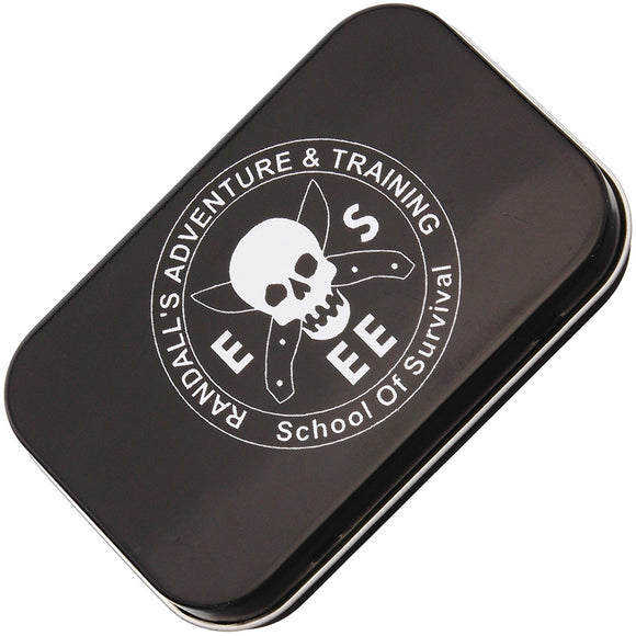 ESEE Logo School of Survival Black Adventure Pocket Survival Kit Empty Tin 2284
