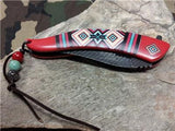 Master Aztec Native American Indian Assisted Open Folding Knife Red  -  A023RD