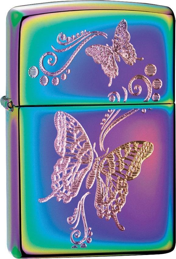 Zippo Lighter Butterflies Spectrum rainbow Windproof USA New