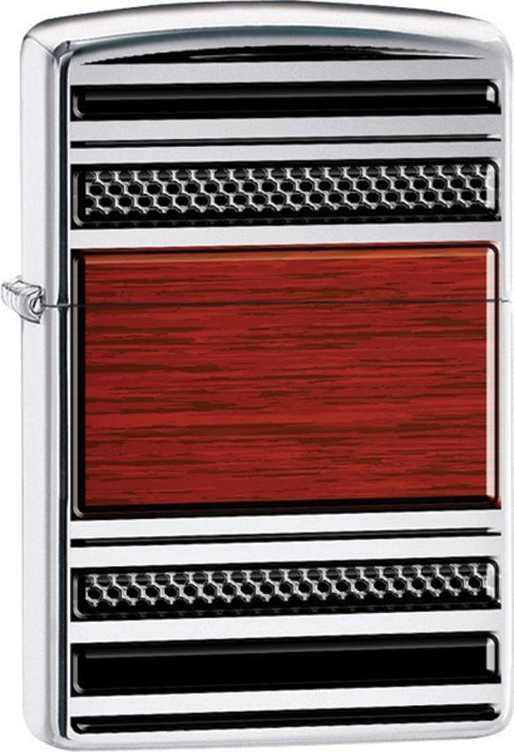 Zippo Lighter Steel and Wood Windproof USA New