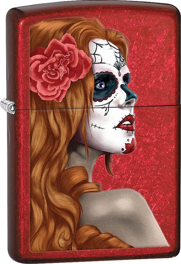 Zippo Lighter Day Of Dead Girl Windproof USA New