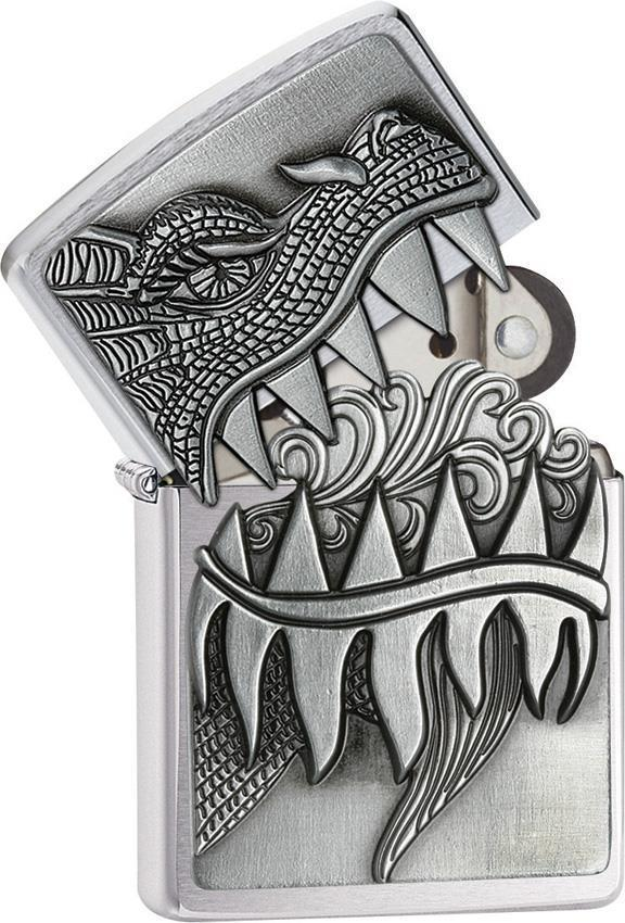 Zippo Lighter Fire Breathing Dragon Windless USA Made