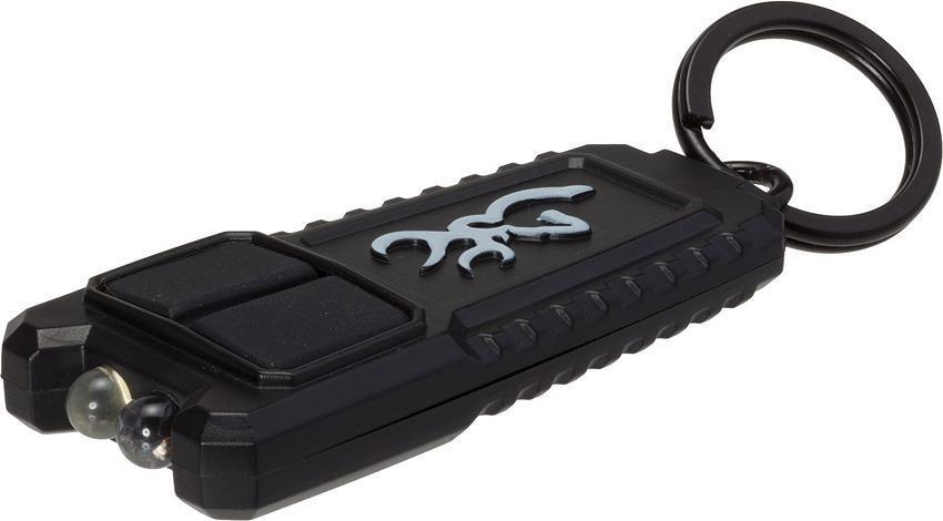 Browning Flash USB Rechargeable Battery Black Body Keychain White LED Light