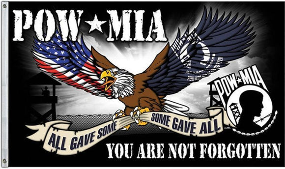 POW MIA Flag Prisoner of War Missing in Action Veteran Soldier