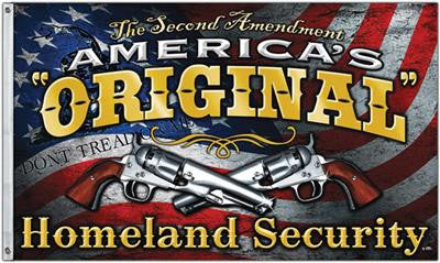 America Original Homeland Security Flag 3 x 5 2nd Amendment NRA Gun Rights - 36679