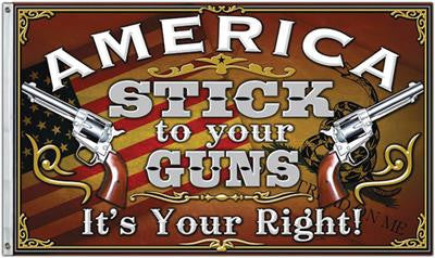 America Stick To Your Guns Your Right Flag 3' x 5' USA NRA Freedom 2a - 36682