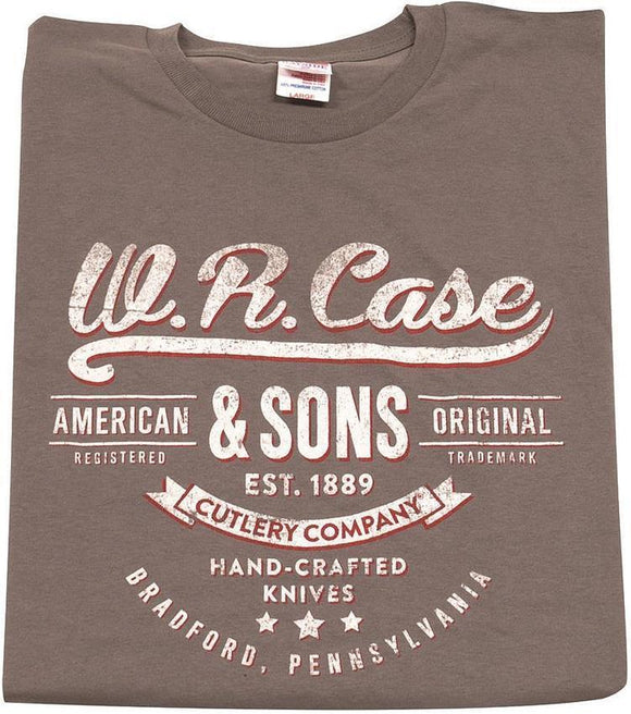 W R Case Cutlery & Sons Hand Crafted Knives Graphic Small Charcoal T-Shirt