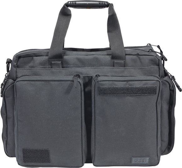5.11 Tactical Side Trip Laptop Carrying Storage Space Black & Gray Briefcase