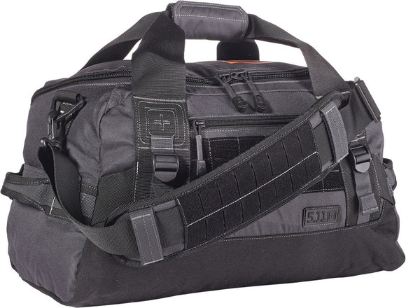 5.11 Tactical NBT Mike Double Tap Grap-and-Go Storage 27L Capacity Travel Black Duffel Bag