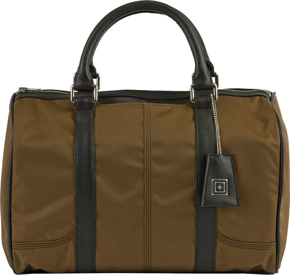 5.11 Tactical Women's Military Brown Faux Leather Badge Wallet Gun & Accessories Sarah Satchel Bag